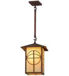 "12""Sq Seneca Circle Cross Lantern Pendant"