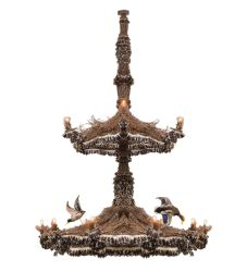 "110""W Terres Canard 18 Lt Two Tier Chandelier"