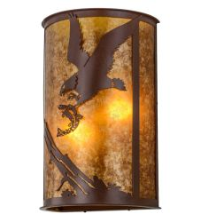 "13""W Strike Of The Eagle Wall Sconce"