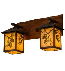 "20""W Balsam Pine 2 Lt Wall Sconce"
