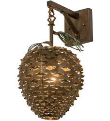 """11""""W Stoneycreek Pinecone Hanging Wall Sconce"""