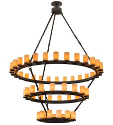 "84""W Noziroh Ring 60 Lt Three Tier Chandelier"