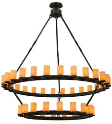 "84""W Noziroh Ring 46 Lt Two Tier Chandelier"