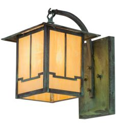 """9""""W Seneca Valley View Curved Arm Wall Sconce"""
