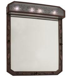 "30""W Arabesque Lighted Vanity Mirror"