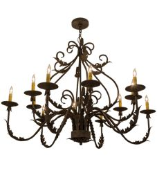 "48""W French Elegance 12 Lt Chandelier"