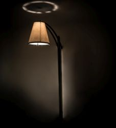 """21""""W X 102""""H Cilindro Tapered Patio Lamp"""