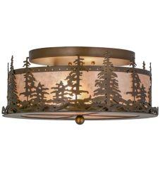 "16""W Tall Pines Flushmount"
