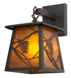 """7""""W Whispering Pines Hanging Wall Sconce"""