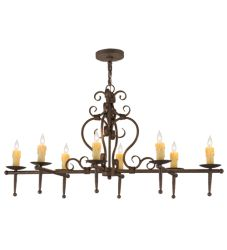 "48""L Monica 8 Lt Oblong Chandelier"
