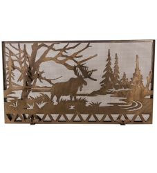 "63""W X 35""H Moose Creek Fireplace Screen"