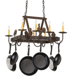 "27""L Barn Animals 8 Lt Pot Rack"