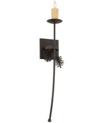 """6""""W Bechar Pine Cone Wall Sconce"""