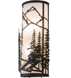 """9""""W Alpine Right Wall Sconce"""