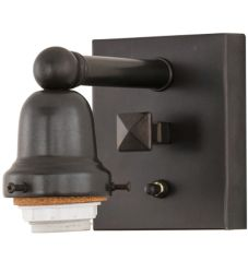 "4""W Craftsman Brown On Brass 1 Lt Wall Sconce Hardware"