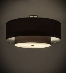 """30""""W Cilindro Textrene Two Tier Pendant"""