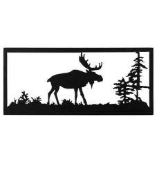 """18""""W Lone Moose Wall Art"""