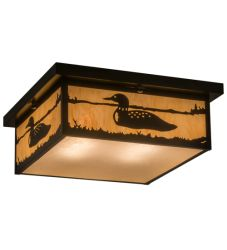 "16""Sq Hyde Park Loon Flushmount"