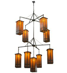 "62""W Church Street 9 Lt Chandelier"