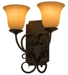 """14""""W Thierry 2 Lt Wall Sconce"""