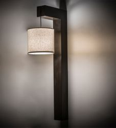 "12""W Cilindro Hickory Wall Sconce"