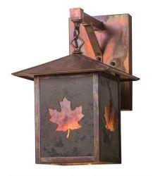 """9""""W Seneca Maple Leaf Wall Sconce"""