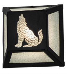 "10""W Lone Wolf Wall Sconce"