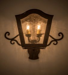 "21.5""W Christian Wall Sconce"