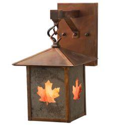"7""W Seneca Maple Leaf Hanging Wall Sconce"