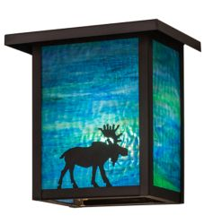 """8""""W Hyde Park Moose Wall Sconce"""