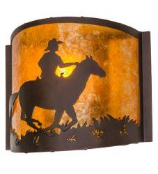 """12""""W Cowboy Wall Sconce"""