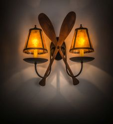 """17.5""""W Paddle 2 Lt Wall Sconce"""