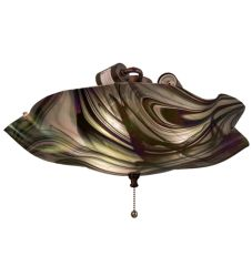 "18""W Metro Fusion Noir Swirl Iridescent Fan Light"