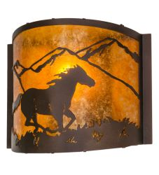 """12""""W Running Horse Wall Sconce"""