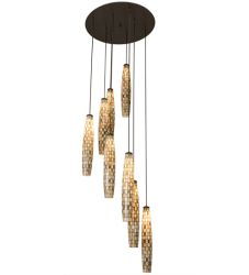 "48""W Checkers 8 LT Cascading Pendant"
