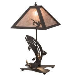 "21.5""H Leaping Trout Table Lamp"