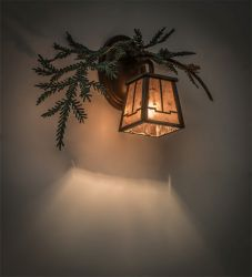 """16""""W Pine Branch Valley View Left Wall Sconce"""