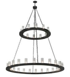 "72""W Loxley 36 Lt Two Tier Chandelier"