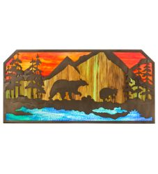 "45.5""L Bear At Lake Wall Art"