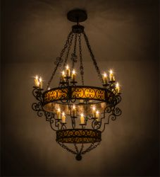 "48""W Isabo 24 Lt Two Tier Chandelier"
