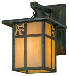"""9""""W Hyde Park Sprig Hanging Wall Sconce"""