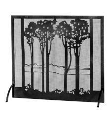 """55""""W X 48""""H Tall Poplars Fireplace Screen"""