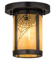 "8""W Fulton Spider Web Flushmount"