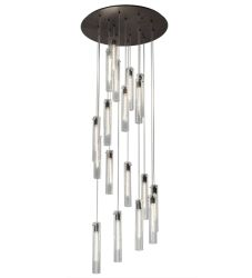 "36""W Cilindro 18 Lt Cascading Pendant"