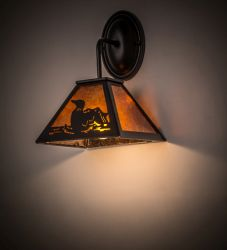 "8""W Loon Curved Arm Wall Sconce"