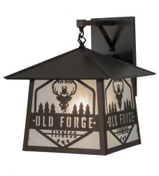"""16""""W Personalized Old Forge Fitness Hanging Wall Sconce"""