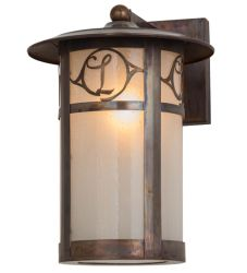 """10""""W Fulton Personalized Monogram Solid Mount Wall Sconce"""