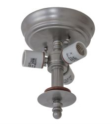 "6.5""W Nickel 3 Lt Flushmount Hardware"