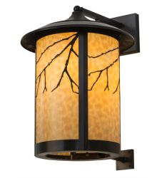 """16""""W Fulton Branches Solid Mount Wall Sconce"""