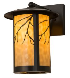 """10""""W Fulton Branches Solid Mount Wall Sconce"""